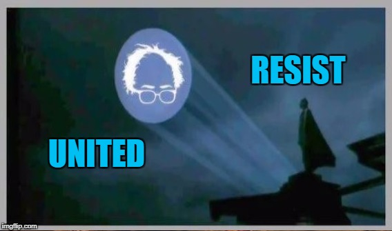 Still feelin the bern | RESIST UNITED | image tagged in sernie sanders,legacy | made w/ Imgflip meme maker