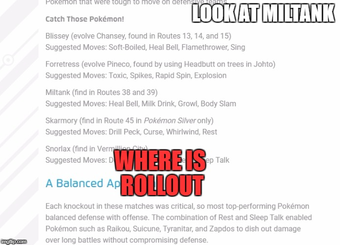 LOOK AT MILTANK WHERE IS ROLLOUT | image tagged in pokemon,wtf,funny | made w/ Imgflip meme maker