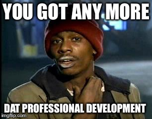 Y'all Got Any More Of That Meme | YOU GOT ANY MORE DAT PROFESSIONAL DEVELOPMENT | image tagged in memes,yall got any more of | made w/ Imgflip meme maker