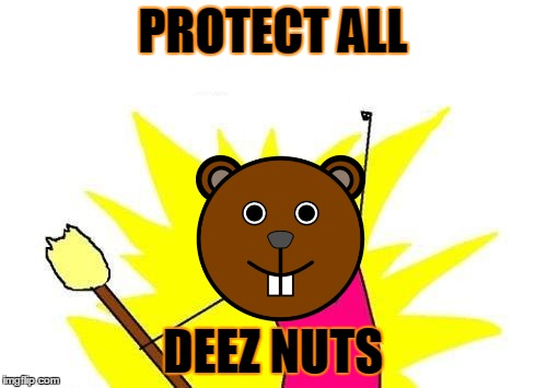 X All The Y Meme | PROTECT ALL DEEZ NUTS | image tagged in memes,x all the y | made w/ Imgflip meme maker