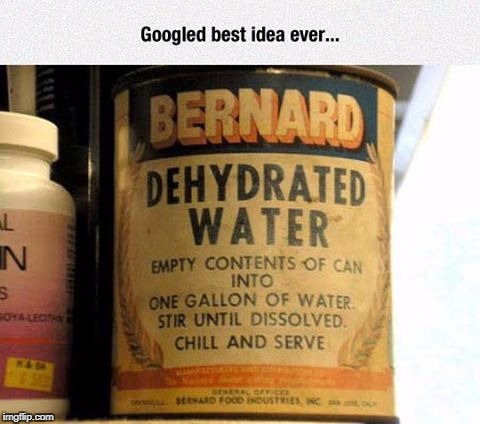 dehydrated water my head hurts | image tagged in meme,dehydrated water | made w/ Imgflip meme maker