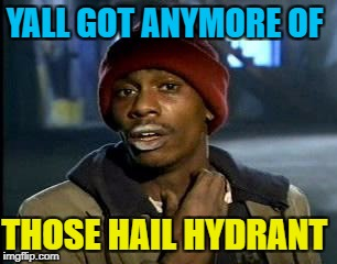 Y'all Got Any More Of That Meme | YALL GOT ANYMORE OF THOSE HAIL HYDRANT | image tagged in memes,yall got any more of | made w/ Imgflip meme maker