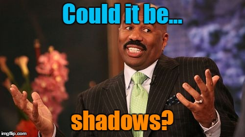 Steve Harvey Meme | Could it be... shadows? | image tagged in memes,steve harvey | made w/ Imgflip meme maker