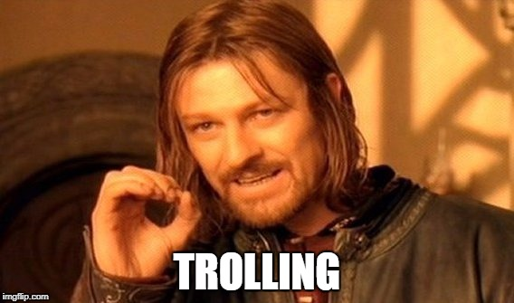 One Does Not Simply Meme | TROLLING | image tagged in memes,one does not simply | made w/ Imgflip meme maker