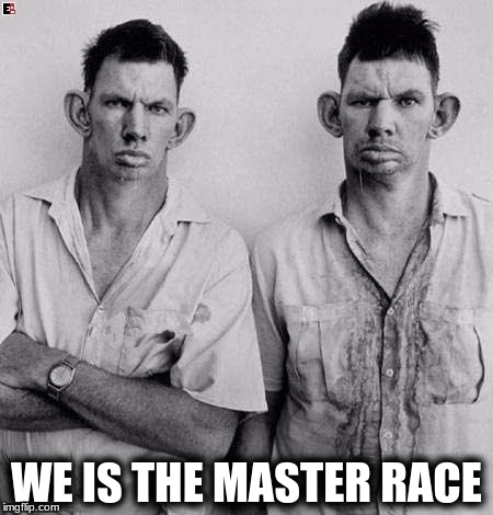 WE IS THE MASTER RACE | made w/ Imgflip meme maker