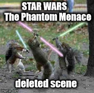 Star Wars | STAR WARS    The Phantom Menace deleted scene | image tagged in star wars,squirrels | made w/ Imgflip meme maker