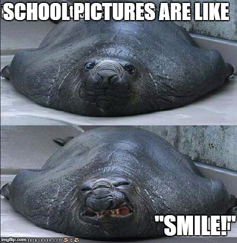 "School Pictures XD | SCHOOL PICTURES ARE LIKE ""SMILE!"" 