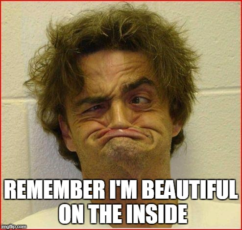 REMEMBER I'M BEAUTIFUL ON THE INSIDE | made w/ Imgflip meme maker