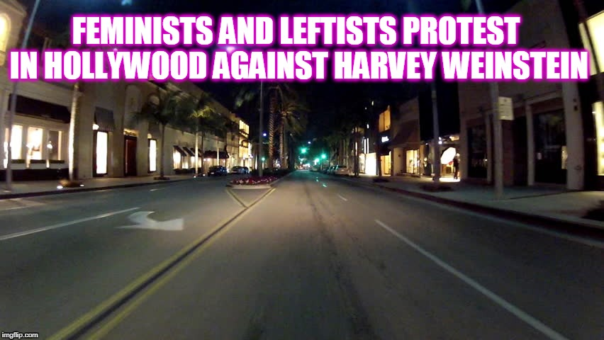 I guess it's not about real outrage | FEMINISTS AND LEFTISTS PROTEST IN HOLLYWOOD AGAINST HARVEY WEINSTEIN | image tagged in harvey weinstein,protesters | made w/ Imgflip meme maker