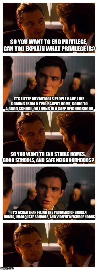 "The playing field may be uneven, but ""privilege"" is not the problem 