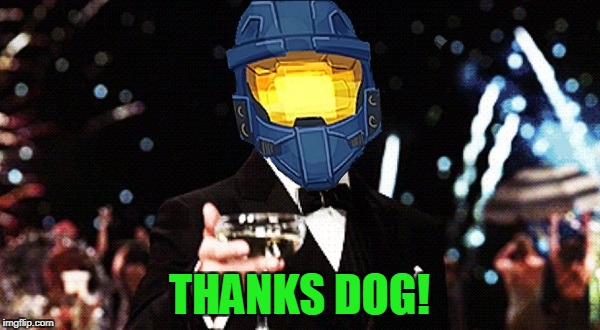 Cheers Ghost | THANKS DOG! | image tagged in cheers ghost | made w/ Imgflip meme maker