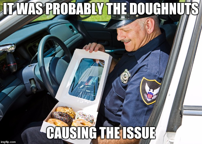 IT WAS PROBABLY THE DOUGHNUTS CAUSING THE ISSUE | made w/ Imgflip meme maker