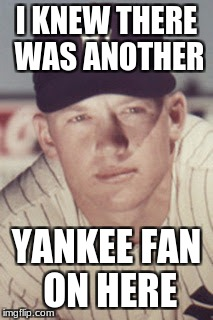 I KNEW THERE WAS ANOTHER YANKEE FAN ON HERE | made w/ Imgflip meme maker