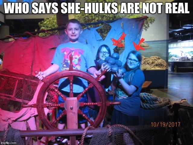 cannon ball holding besties in background | WHO SAYS SHE-HULKS ARE NOT REAL | image tagged in memes,she-hulk,heavy,marvel,strong,meme | made w/ Imgflip meme maker