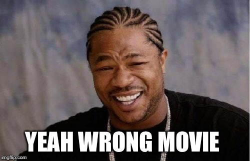 Yo Dawg Heard You Meme | YEAH WRONG MOVIE | image tagged in memes,yo dawg heard you | made w/ Imgflip meme maker