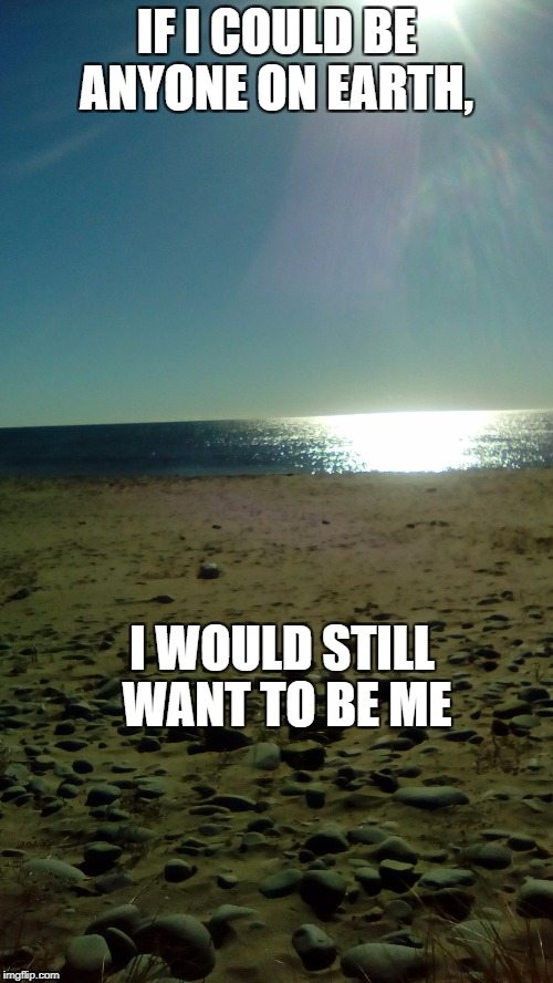 be me | IF I COULD BE ANYONE ON EARTH, I WOULD STILL WANT TO BE ME | image tagged in i would be me,if i could be anyone on earth | made w/ Imgflip meme maker