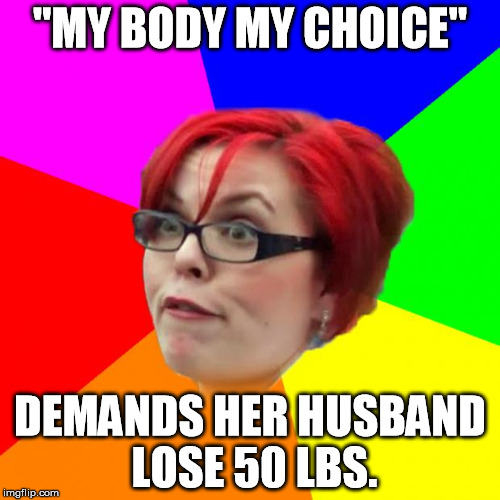 "I married that <facepalm> | ""MY BODY MY CHOICE"" DEMANDS HER HUSBAND LOSE 50 LBS. 