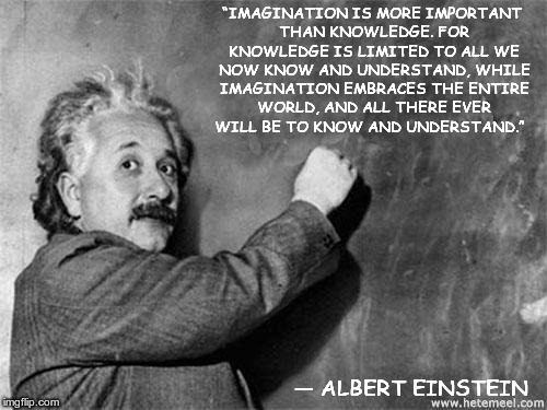 "Einstein on God | ""IMAGINATION IS MORE IMPORTANT THAN KNOWLEDGE. FOR KNOWLEDGE IS LIMITED TO ALL WE NOW KNOW AND UNDERSTAND, WHILE IMAGINATION EMBRACES THE EN 