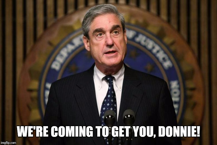 Robert Mueller | WE'RE COMING TO GET YOU, DONNIE! | image tagged in robert mueller | made w/ Imgflip meme maker