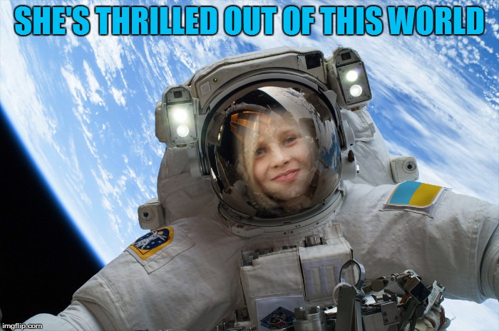 SHE'S THRILLED OUT OF THIS WORLD | made w/ Imgflip meme maker