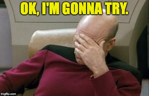 Captain Picard Facepalm Meme | OK, I'M GONNA TRY. | image tagged in memes,captain picard facepalm | made w/ Imgflip meme maker