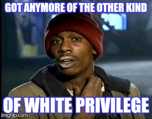 Y'all Got Any More Of That Meme | GOT ANYMORE OF THE OTHER KIND OF WHITE PRIVILEGE | image tagged in memes,yall got any more of | made w/ Imgflip meme maker