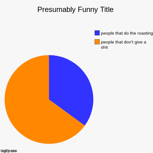 people that don't give a shit, people that do the roasting | image tagged in funny,pie charts | made w/ Imgflip pie chart maker