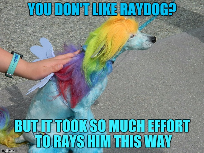 YOU DON'T LIKE RAYDOG? BUT IT TOOK SO MUCH EFFORT TO RAYS HIM THIS WAY | made w/ Imgflip meme maker