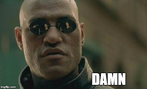 Matrix Morpheus Meme | DAMN | image tagged in memes,matrix morpheus | made w/ Imgflip meme maker