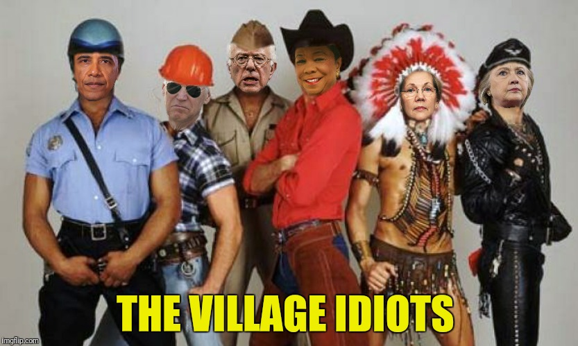 Look, Grandma's a rock star!  | THE VILLAGE IDIOTS | image tagged in barack obama,joe biden,bernie sanders,frederica wilson,elizabeth warren,hillary clinton | made w/ Imgflip meme maker