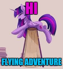 HI FLYING ADVENTURE | made w/ Imgflip meme maker