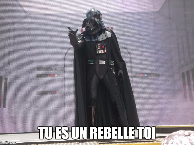 TU ES UN REBELLE TOI | image tagged in dark vador | made w/ Imgflip meme maker