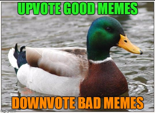 UPVOTE GOOD MEMES DOWNVOTE BAD MEMES | made w/ Imgflip meme maker