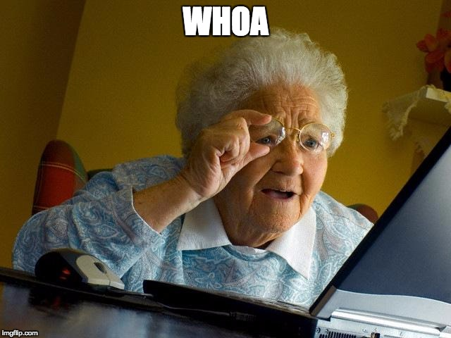 Grandma Finds The Internet Meme | WHOA | image tagged in memes,grandma finds the internet | made w/ Imgflip meme maker