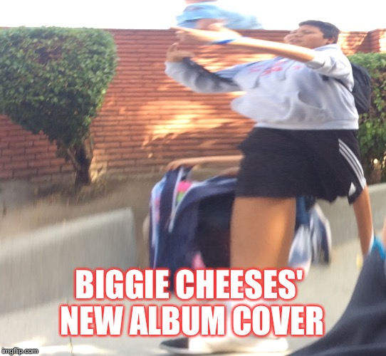 BIGGIE CHEESES' NEW ALBUM COVER | image tagged in biggie cheese | made w/ Imgflip meme maker