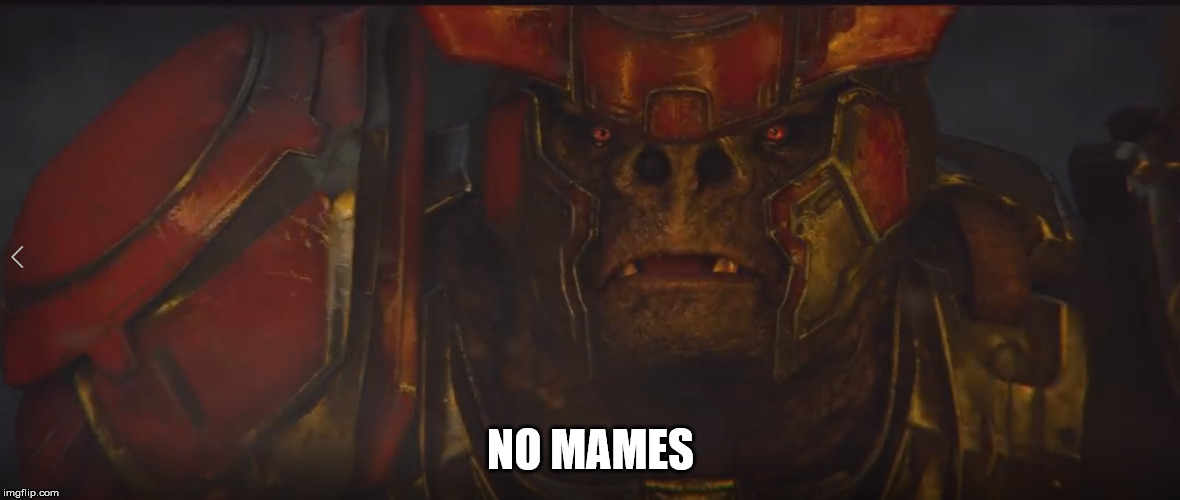 brute no ma | NO MAMES | image tagged in halo wars 2 meme brute flood | made w/ Imgflip meme maker