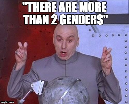 "Dr Evil Laser Meme | ""THERE ARE MORE THAN 2 GENDERS"" 