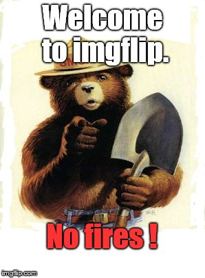 Welcome to imgflip. No fires ! | made w/ Imgflip meme maker