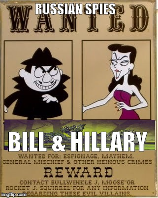 RUSSIAN SPIES BILL & HILLARY | image tagged in news | made w/ Imgflip meme maker