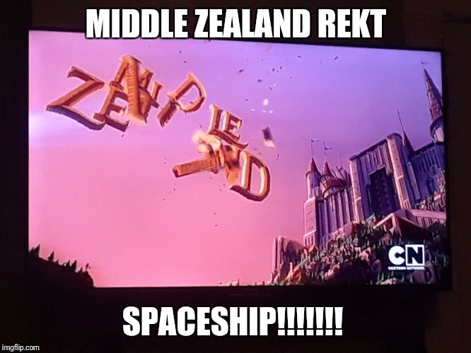 MIDDLE ZEALAND REKT SPACESHIP!!!!!!! | image tagged in spaceship | made w/ Imgflip meme maker