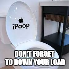 DON'T FORGET TO DOWN YOUR LOAD | image tagged in toilet seat up | made w/ Imgflip meme maker