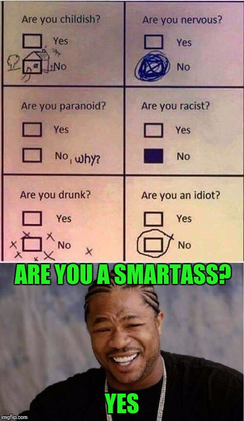 This fits me to a T | ARE YOU A SMARTASS? YES | image tagged in pipe_picasso | made w/ Imgflip meme maker