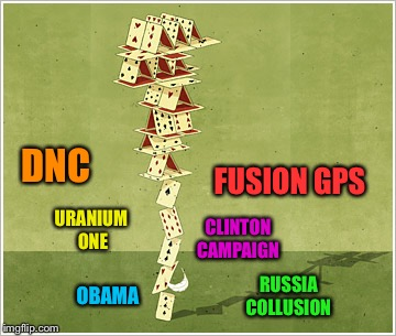 Cards | DNC FUSION GPS CLINTON CAMPAIGN URANIUM ONE OBAMA RUSSIA COLLUSION | image tagged in cards | made w/ Imgflip meme maker