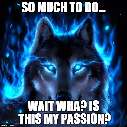 With passion comes fury - Paula Campbell | SO MUCH TO DO... WAIT WHA? IS THIS MY PASSION? | image tagged in with passion comes fury - paula campbell | made w/ Imgflip meme maker