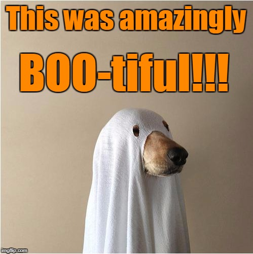 Ghost Doge | This was amazingly BOO-tiful!!! | image tagged in ghost doge | made w/ Imgflip meme maker