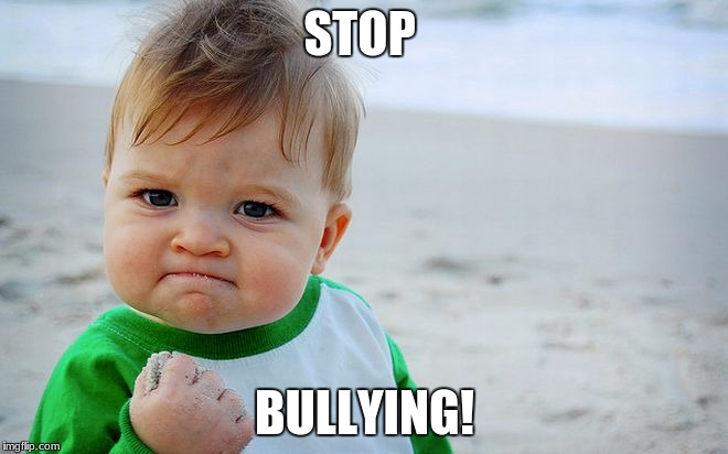 STOP BULLYING! | image tagged in mad baby | made w/ Imgflip meme maker