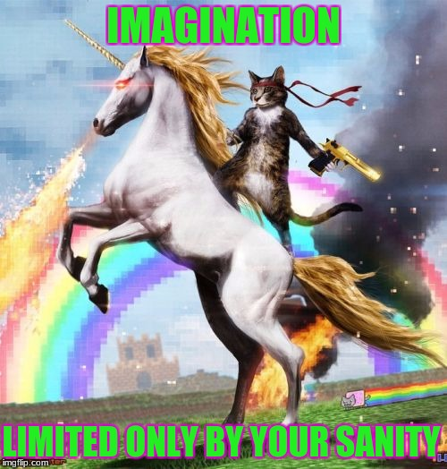what the.... | IMAGINATION LIMITED ONLY BY YOUR SANITY | image tagged in memes,welcome to the internets | made w/ Imgflip meme maker