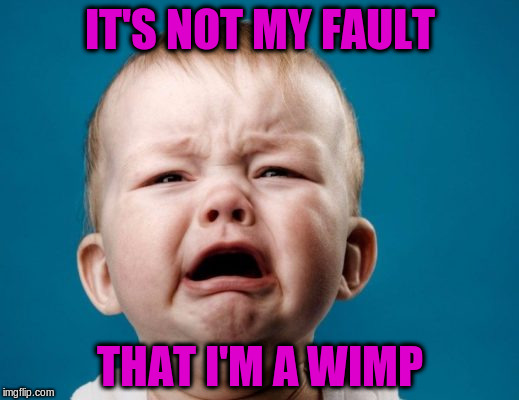 IT'S NOT MY FAULT THAT I'M A WIMP | made w/ Imgflip meme maker