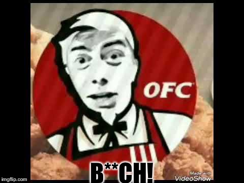 Ohio Fried Chicken, only in Ohio! | B**CH! | image tagged in ohio fried chicken,jake paul | made w/ Imgflip meme maker