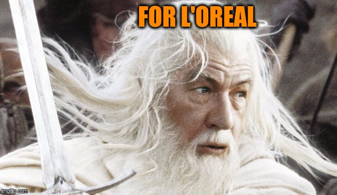 To Gandalf it is certainly worth it. Movie Week Oct 22-29 (A SpursFanFromAround and haramisbae Event) | FOR L'OREAL | image tagged in memes,funny,movie week,gandalf,lotr,hair | made w/ Imgflip meme maker